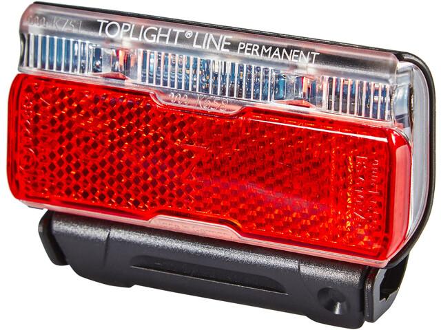 Busch + Müller Toplight Line Cykellygter permanent 50mm, sort